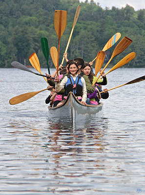 Photograph - The Canoeists Salute by John Meader
