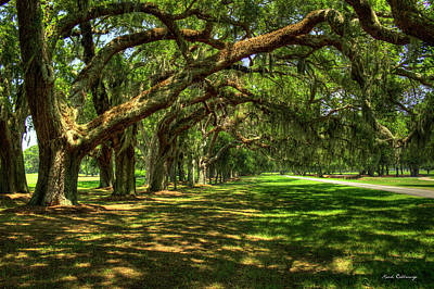 The Canopy Avenue Of Oaks St Simons Island Georgia Art Print by Reid Callaway