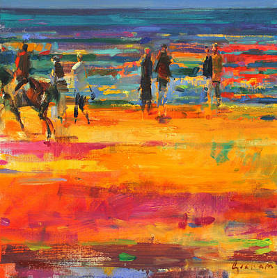 The Canter  Paris Plage Art Print by Peter Graham