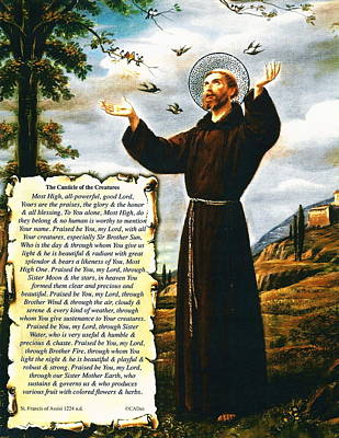 The Canticle Of The Creatures By St. Francis Of Assisi Art Print by Desiderata Gallery