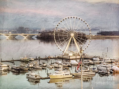 The Capital Wheel At National Harbor Art Print