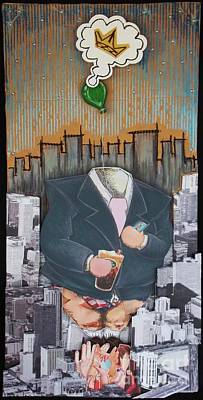 Mixed Media - The Capitalist by Mack Galixtar