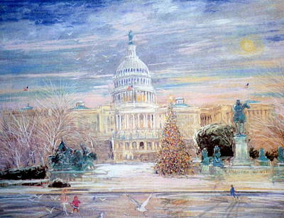 Capitol Building Mixed Media - The Capitol Building by Kamil Kubik