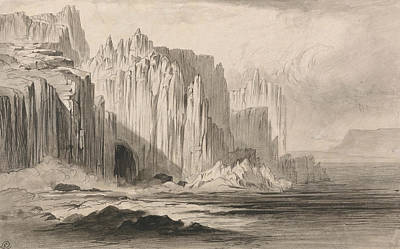 Drawing - The Capo Sant Angelo, Amalfi by Edward Lear