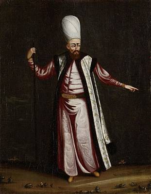 Seraglio Painting - The Capoudgi Bachi, Grand-master Of The Seraglio, Jean Baptiste Vanmour, 1700 - 1737 by Celestial Images