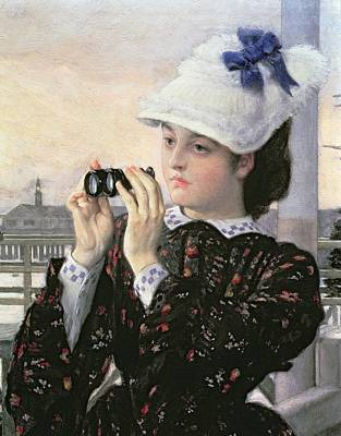 Waiting Girl Painting - The Captain's Daughter by Tissot