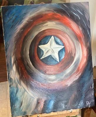 The Captain's Shield Original by Dani T