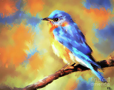 Painting - The Captivating Bluebird by Tina LeCour