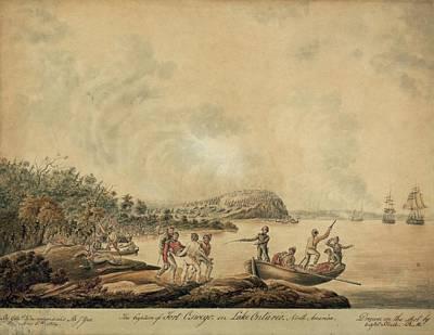 The Capture Of Fort Oswego On Lake Art Print