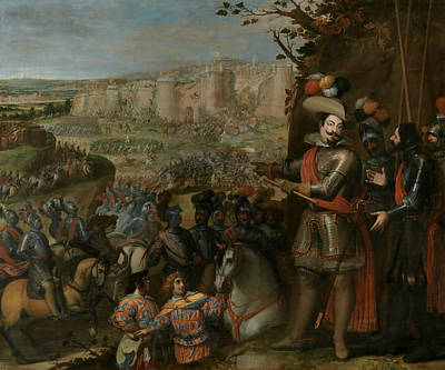 Painting - The Capture Of Rheinfelden By The Troops Of The Duke Of Feria by Vincenzo Carducci