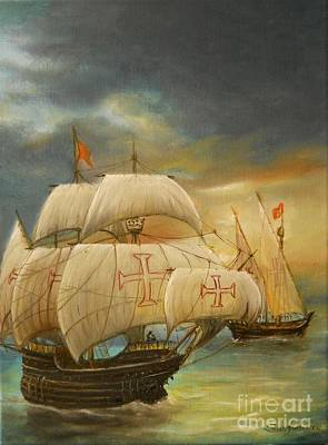 Painting - The Caravel by Sorin Apostolescu