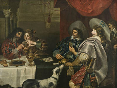 Painting - The Card Game by Cornelis de Vos