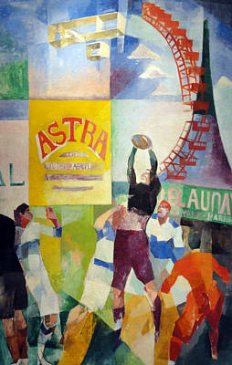 Sports Artist Painting - The Cardiff Team by Robert Delaunay