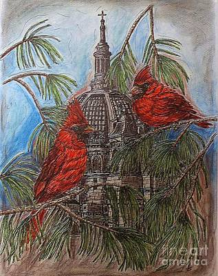 The Cardinals Visit St.pauls Cathedral Art Print