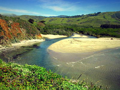 Photograph - The Carmel River Meets The Pacific by Joyce Dickens