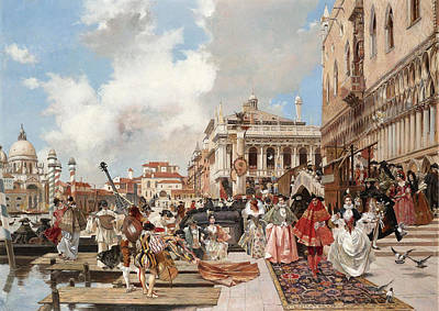 Painting - The Carnival. Venice by Francois Flameng