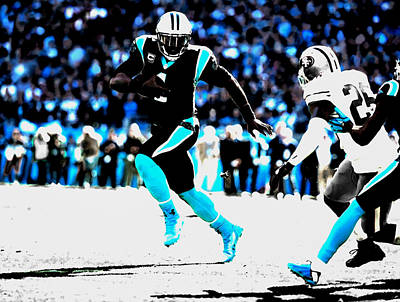 Tebow Mixed Media - The Carolina Panthers 06a by Brian Reaves
