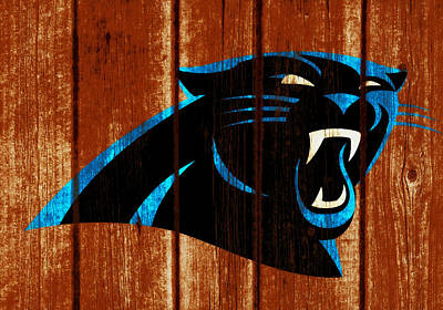 Mixed Media - The Carolina Panthers 1w by Brian Reaves