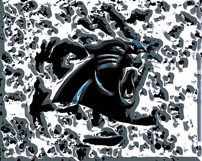 Patriot Mixed Media - The Carolina Panthers 2c by Brian Reaves