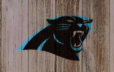 Tim Tebow Mixed Media - The Carolina Panthers C2 by Brian Reaves