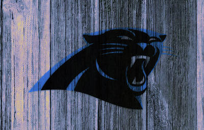 Tim Tebow Mixed Media - The Carolina Panthers C4 by Brian Reaves