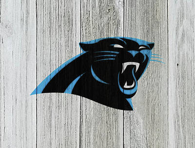 Tim Tebow Mixed Media - The Carolina Panthers C7 by Brian Reaves