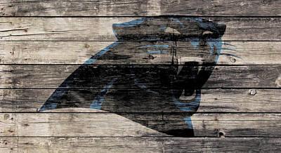 The Carolina Panthers Wood Art Art Print by Brian Reaves