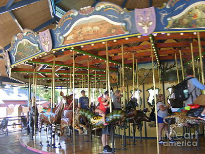 Photograph - The Carousel At The Zoo by Nancy Kane Chapman