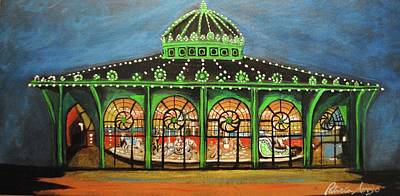 Painting - The Carousel Of Asbury Park by Patricia Arroyo