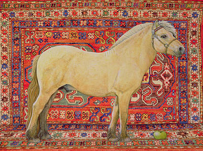 Persian Carpet Painting - The Carpet Horse by Ditz