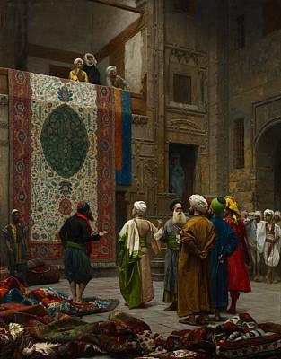 Muslim Painting - The Carpet Merchant by Jean Leon Gerome