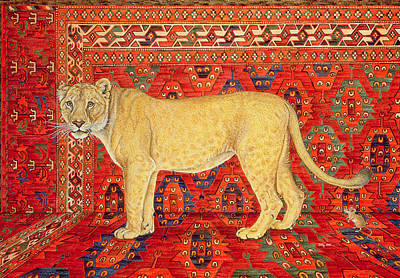Persian Carpet Painting - The Carpet Mouse by Ditz