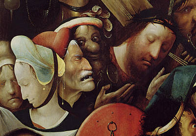 Grotesque Painting - The Carrying Of The Cross by Hieronymus Bosch