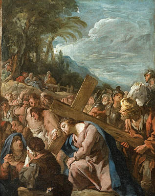 De Troy Painting - The Carrying Of The Cross by Jean-Francois Detroy