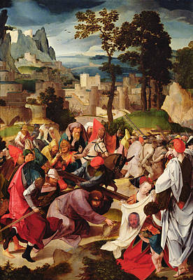 The Carrying Of The Cross Art Print by Master of the Repudiation of Hagar
