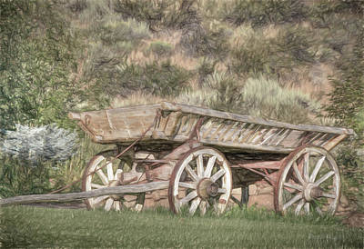The Cart Before The Horse Art Print by Donna Kennedy
