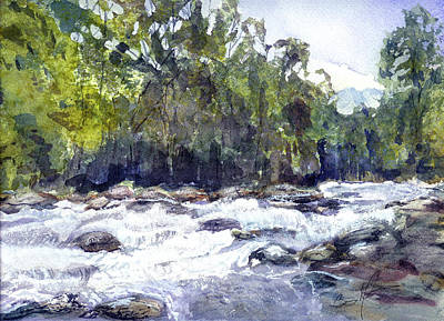 Painting - The Cascades by Barry Jones