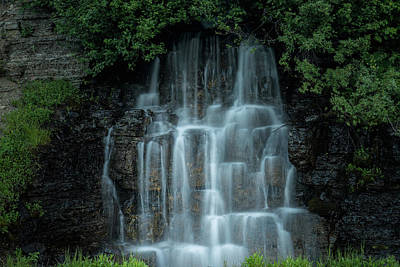 Photograph - The Cascading Waterfall by William Lee
