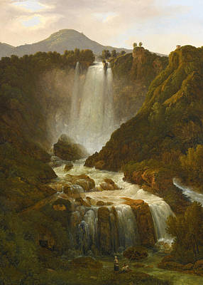 Giambattista Bassi Painting - The Cascata Delle Marmore On The River Velino Near Terni by Giambattista Bassi