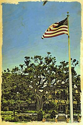 Photograph - The Casements Flag Flying by Alice Gipson