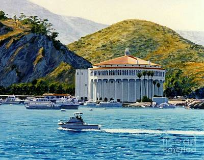 Cabin Cruiser Painting - The Casino by Frank Dalton