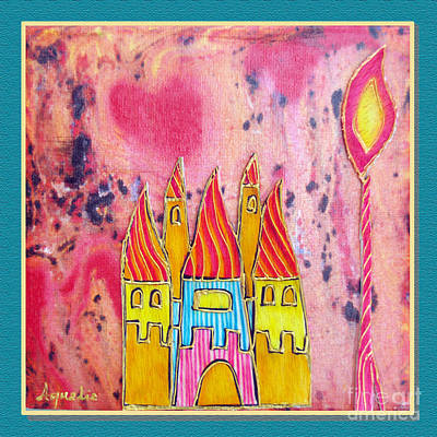 The Castle Blazes Art Print