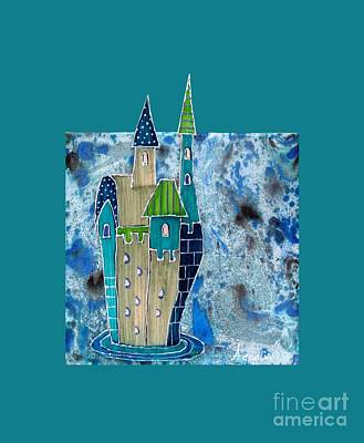 Loose Style Mixed Media - The Castle Descends by Aqualia