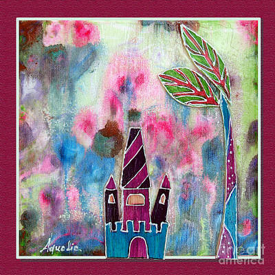 Youthful Mixed Media - The Castle Dreams by Aqualia