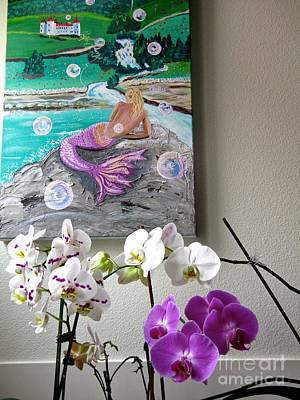 Photograph - The Castle, Mermaid, And Present Orchids by Phyllis Kaltenbach