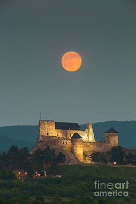Photograph - The Castle Of Boldogko At Full Moon by Gabor Pozsgai