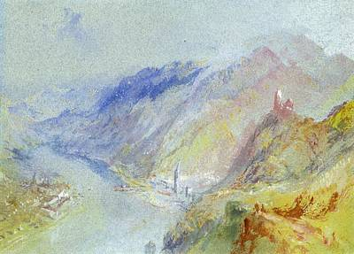 Gouache Painting - The Castle Of Trausnitz Overlooking Landshut by Joseph Mallord William Turner