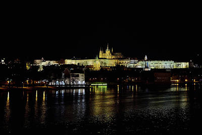 Photograph - The Castle. Prague Spring 2017 . Prague By Night by Jouko Lehto