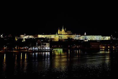 Photograph - The Castle. Prague Spring 2017 . Prague By Night by Jouko Lehto