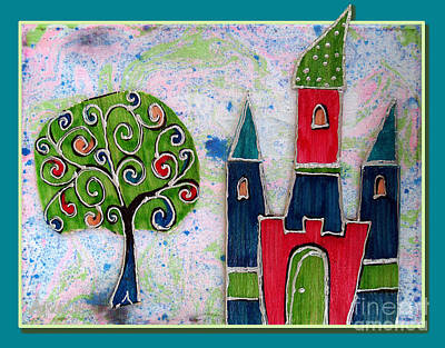 Youthful Mixed Media - The Castle Thrives by Aqualia